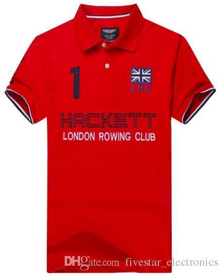 2017 de moda con en marca Hackett 32 Polos Polo Sleeve línea Shirts London Hkt Slim en 58piece Inglaterra Summer Mens Shirt cKU0q8cTX
