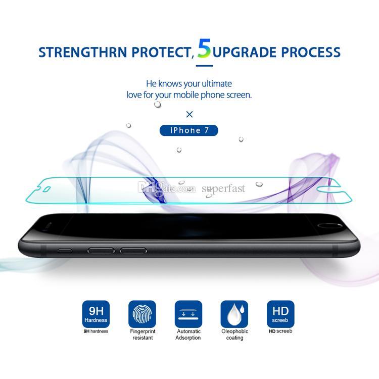 شاشة حامي للحصول على اي فون 12 PRO MAX XR XS 6S 8 PLUS سامسونج A71 LG الإبرة 6 الزجاج المقسى حامي أفلام 1 حزمة صندوق في مجال تجارة التجزئة