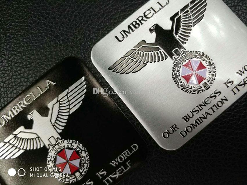 Exterior Accessories Resident Evil Umbrella Aluminum Emblem Badge Car Trunk Metal Sticker tail Decals