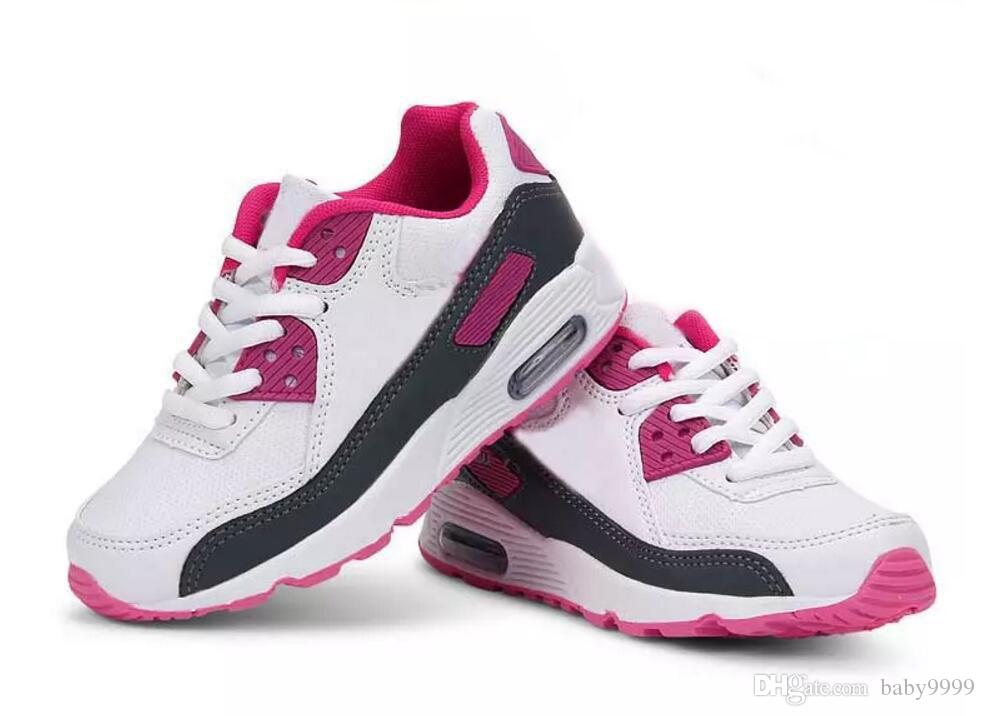 cea0d1f2968e7 Acheter NIKE Chaussures Pour Enfants Printemps Sport Running Filles Mode  Baskets Enfants Garçons Chaussures Taille De La Chaussure Européenne  25 37  De ...