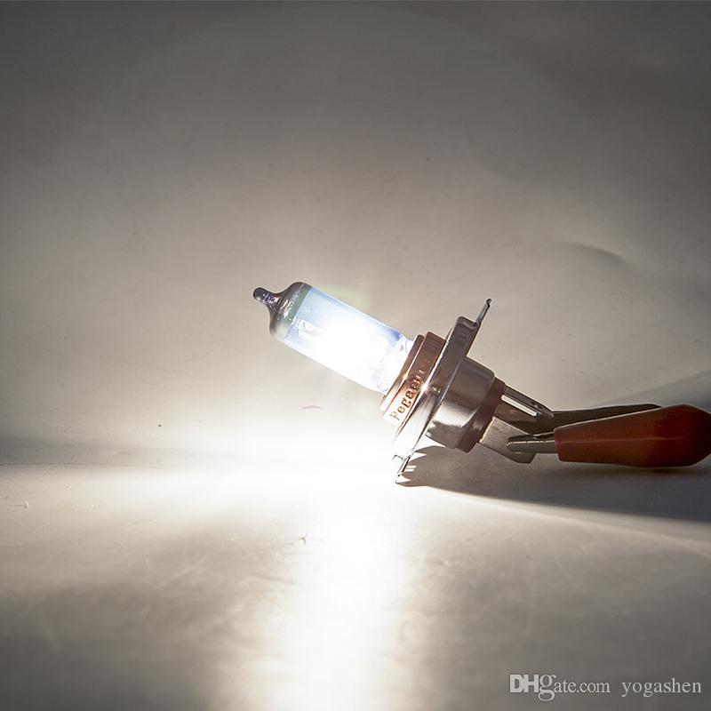 2x100W H4 9003 Faro halógeno para automóvil Luz de niebla DRL HOD Lámpara Xenón blanco 5000K Bombilla de repuesto de vidrio azul marino Fuente de luz para automóvil