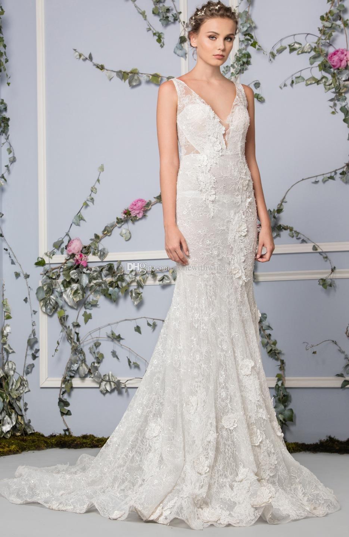 Lace Mermaid Wedding Dresses 2017 Tony Ward Bridal Off White Mermaid ...