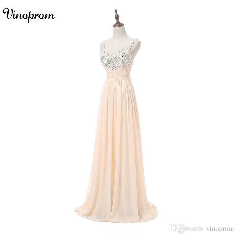 VInoprom Robe De Soiree A-line In Chiffon In Rilievo Lungo Abito Da Sera Partito Elegante Vestido De Festa Lungo Prom Abito 2018