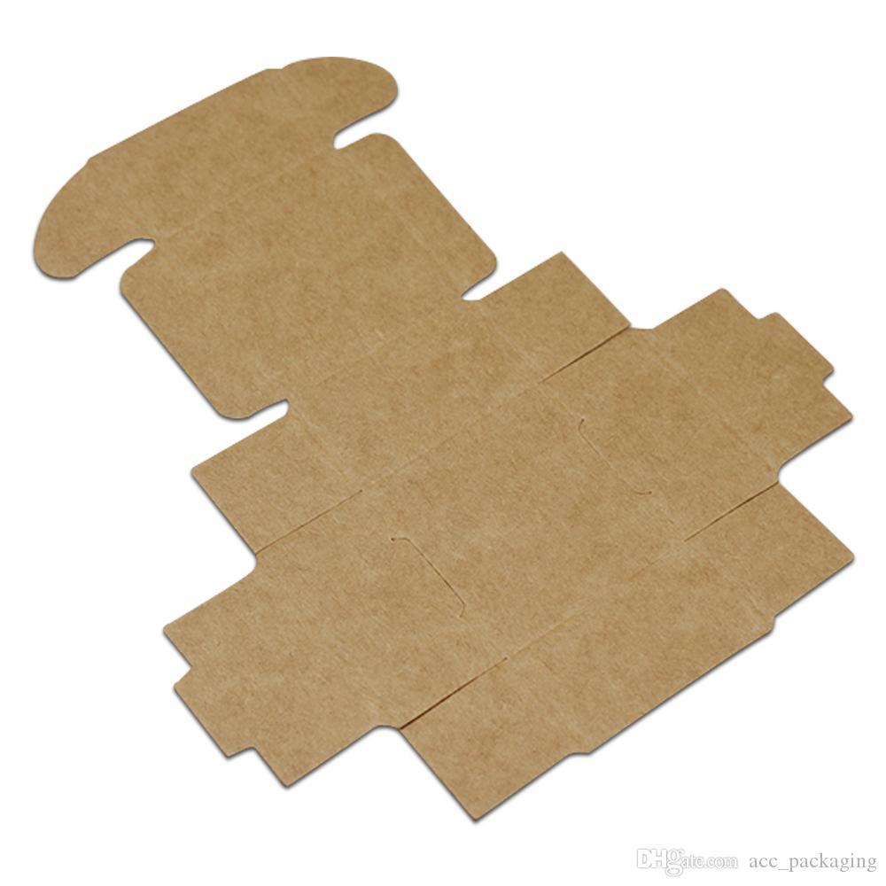 Piccola scatola d'imballaggio di regalo della scatola di carta di Kraft di 3.7 * 3.7 * 2cm i gioielli fatti a mano della torta del forno dei dolci della caramella della festa nuziale della festa nuziale del sapone di DIY