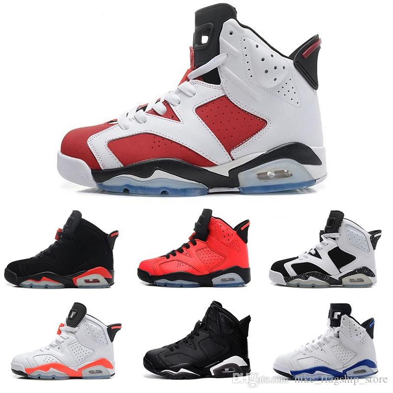 Best Air Retro 6 Men Basketball Shoes Black Cat Maroon Angry Bull Carmine  Infrared Oreo Whiteinfared Black Sport Blue Olympic Sport Sneaker Sneakers  On Sale ...