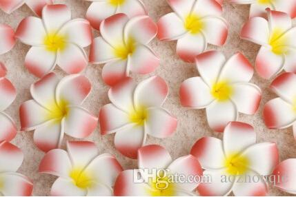 Wholesale 7cm Plumeria Hawaiian Foam Flower For Wedding Party Hair Clip Flower bouquet Decoration