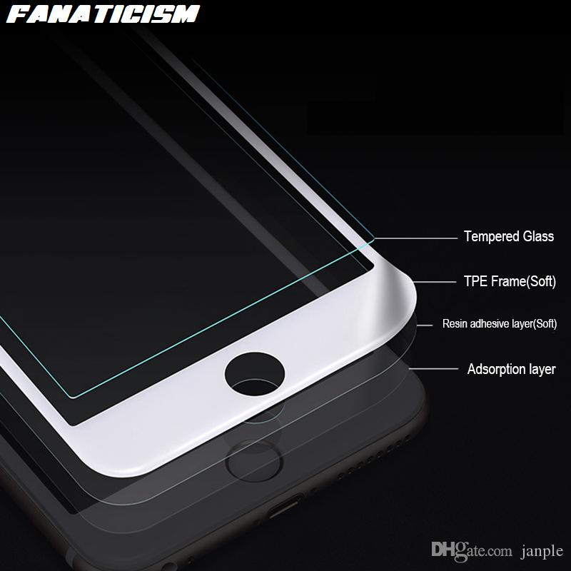 3D Full Cover Soft Edge Tempered Glass Screen Protector For iphone 11 Pro XR XS Max 6s 7 8 Plus Anti-Blue Light Glass