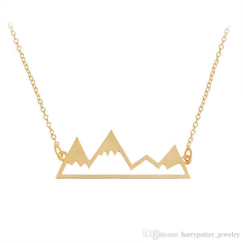 Yeni Hollow Dağ Tepe Kolye Kolye ile Gümüş Altın Zincir Moda Takı Kadın Erkek Hediye için Bırak Gemi 162240