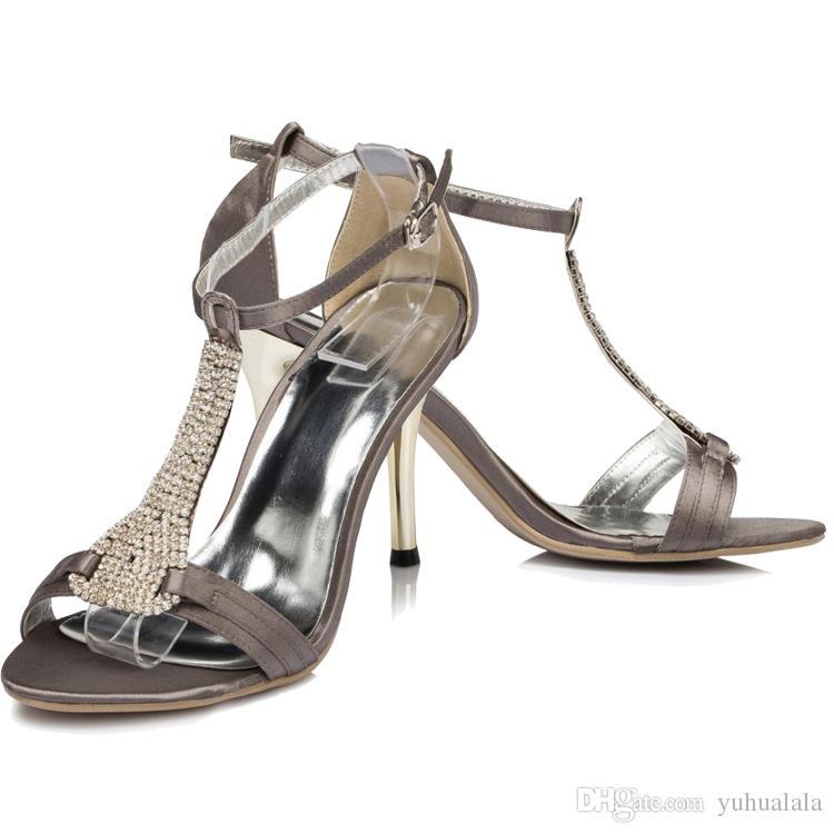 2017 Summer Bridal Shoes Diamonds Ribbons High Heels White Heeled Sandals Bridesmaid Sexy Designer Wedding Online Diamante