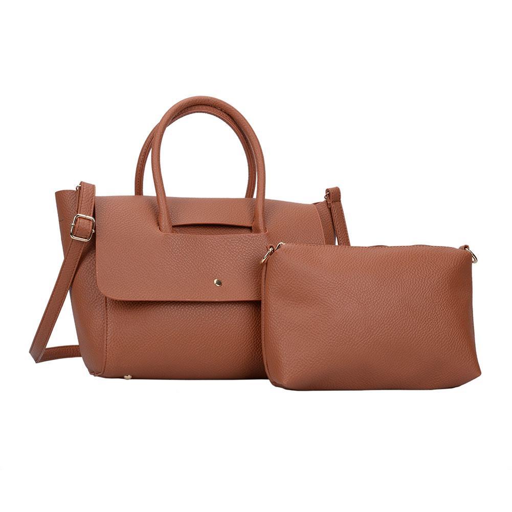 58e60a39c8a Simple Woman Handbag Composite Bag Brand Designer Casual Tote PU Leather  Soft Cover Crossbody Shoulder Bags WDS340