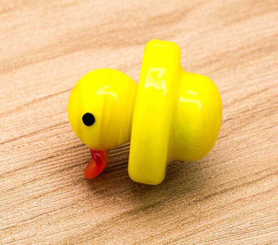 Gros Duck Carb Bouchon Solide Couleur Verre Jaune Canard Dôme 24mm pour 4mm Evan Shore Quartz Banger Nails pipe à eau en stock