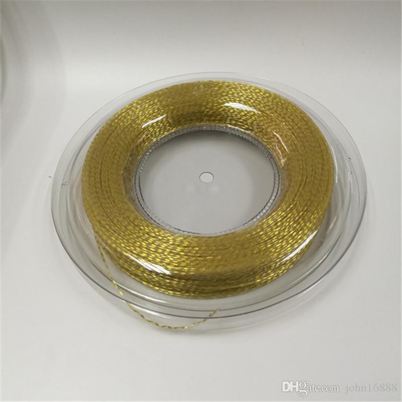 Jauge en nylon rétractable durable de vente chaude dans la chaîne de raquette de tennis 1.35MM 200 m / reel