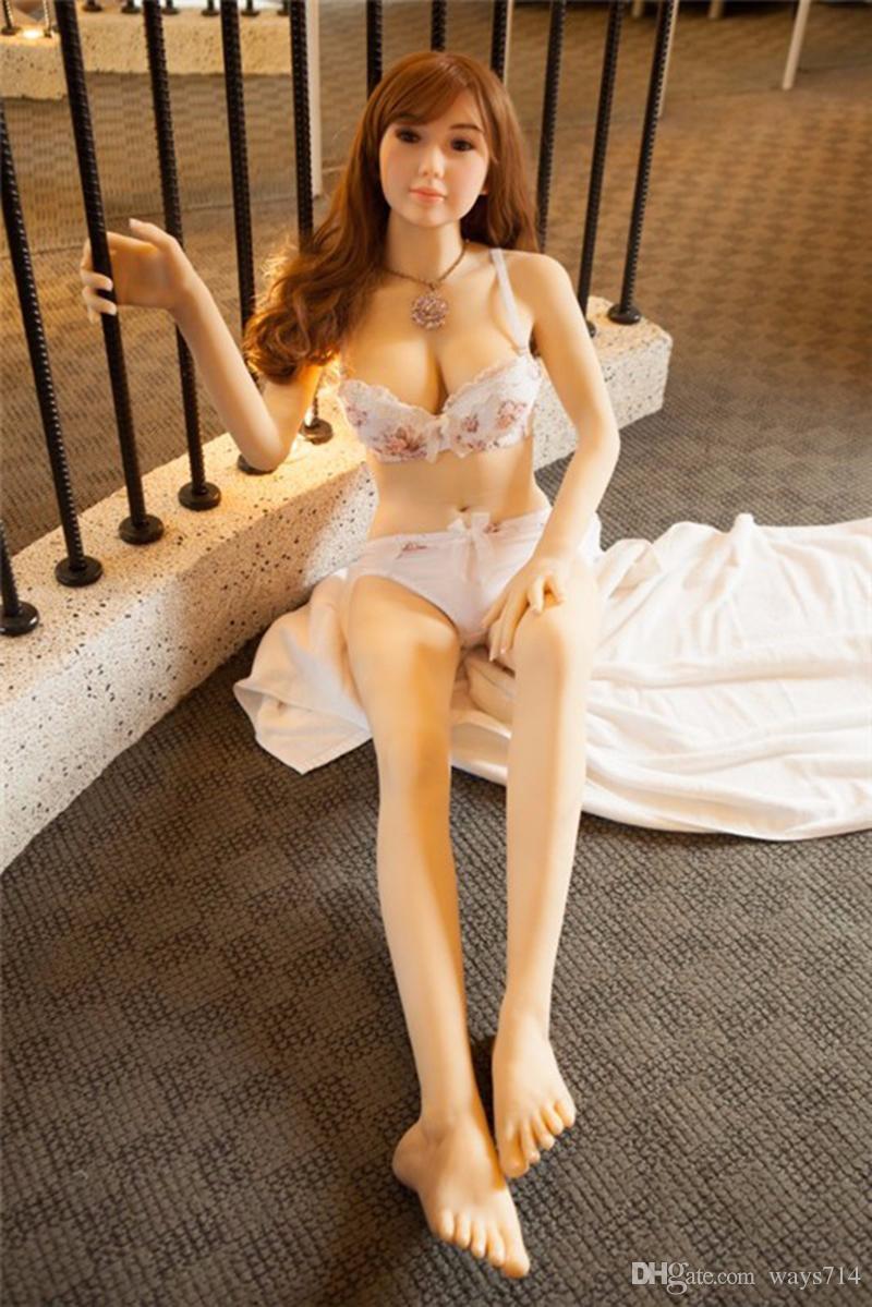 158cm Flesh TPE Realistic Plump Love Dolls Lifelike Big Boobs Sex Doll Adult Sex Toys For Man Masturbation With Big Chest