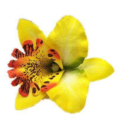 Bohème orchidée épingle à cheveux de vacances plage fleur coiffe avec pince broche corsage pince à cheveux tête de coiffure en gros