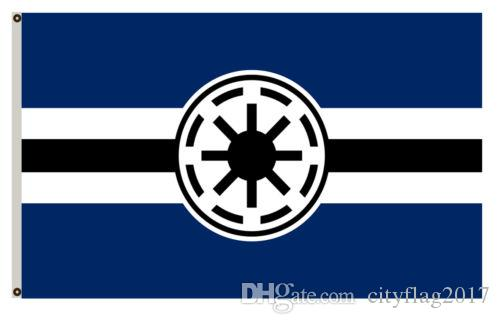 2018 The Galactic Republic Banner Indoor Outdoor Black Flag Home