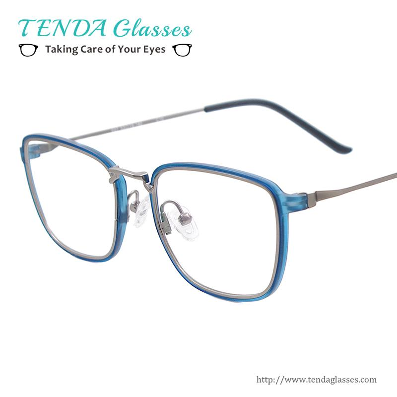 0f87cb2282 Wholesale- Lightweight Full Rim Square Eyewear Frames Plastic Metal ...