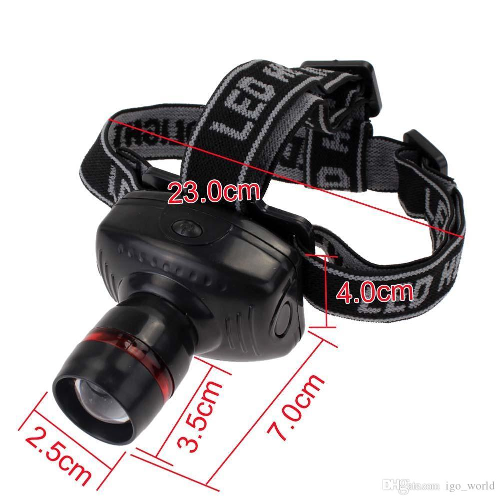 2018 3w Led Headlamp 3 gears Torch Headlight Head Light Zoomable Lamp Flashlight outdoor Camping fishing tools