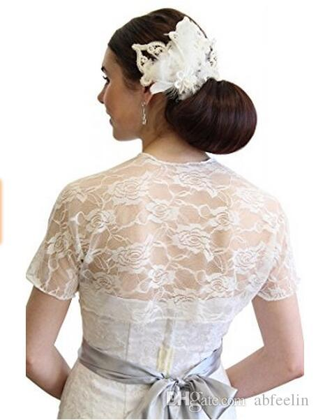 2017 Spring Collection Short Sleeve Bridal Lace Jacket Designer Style New Brand Wedding Bolero Competitive Price