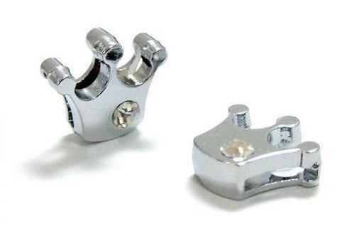 / 8mm 하나의 라인 석 크라운 슬라이드 매력 8mm DIY 액세서리에 적합 열쇠 고리 팔찌