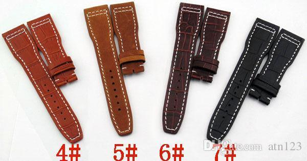 Cinturini orologi in pelle 22mm con cinturini in acciaio inossidabile con fibbia Cinturini orologi di alta qualità Cinturini uomo Sostituzione P80