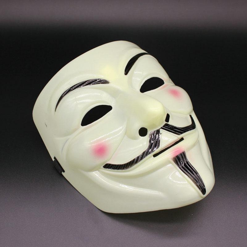 Máscaras de festa V para máscaras de vingança Anonymous Guy Fawkes Fancy Dress Adult Costume acessório plástico partido Cosplay máscaras