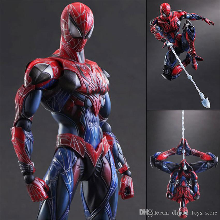 2018 pa spider man action figures 26cm movable figure