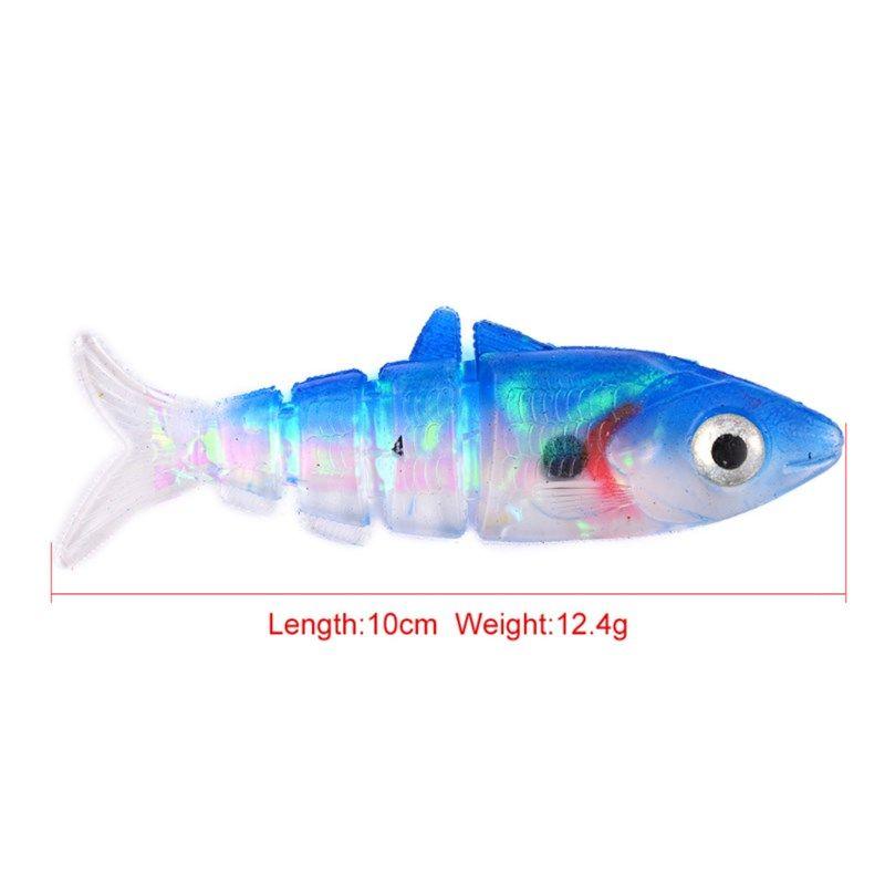 Soft Plastic Sharp Hooks Lead Jig Heads Fishing Lures Combo 10cm Fishing Tackle Silicone Soft Baits