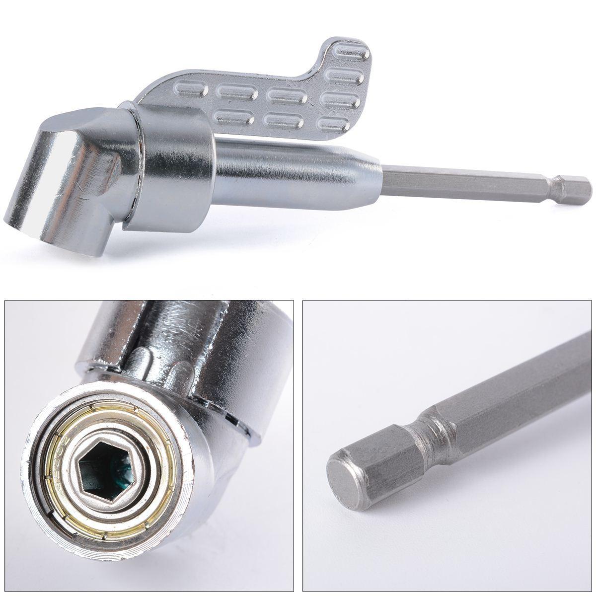 1/4 INCH Magnético Bit 105 Destornillador con adaptador de ángulo Destornillador Brida de pulgar ajustable Off-Set Cabeza de poder Taladro eléctrico BI053 +