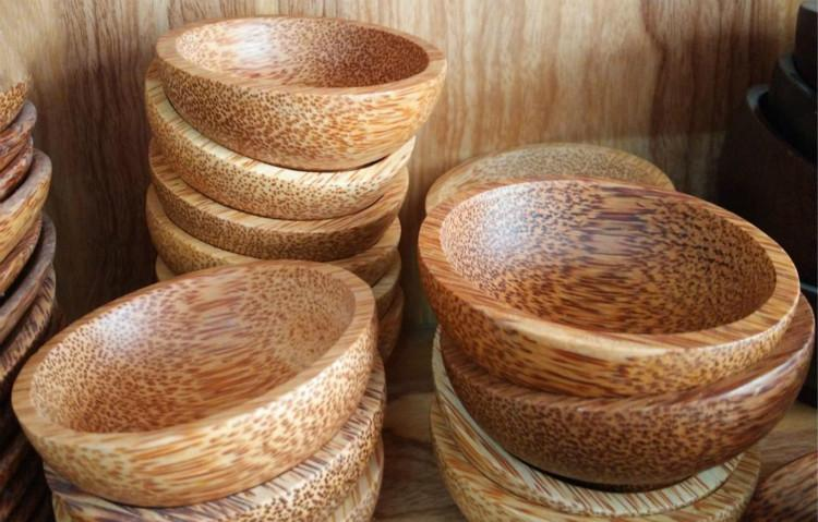 clay eco friendly usb old coconut wholesale wood tableware wooden bowl sauce dish no paint small