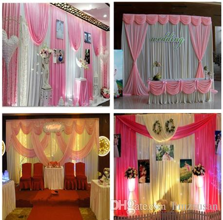 Pink Silver Paillette Wedding Backdrop Curtain Stage Backdrop Drape
