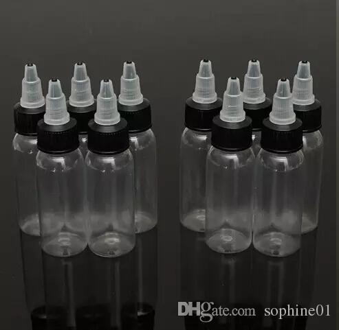Neue 120 ml 4OZ Twist Cap Leere Kunststoff Transparent Tattoo Ink Pigment Flasche Liefert Tattoo Pigment Tintenflasche 20 Teile / los