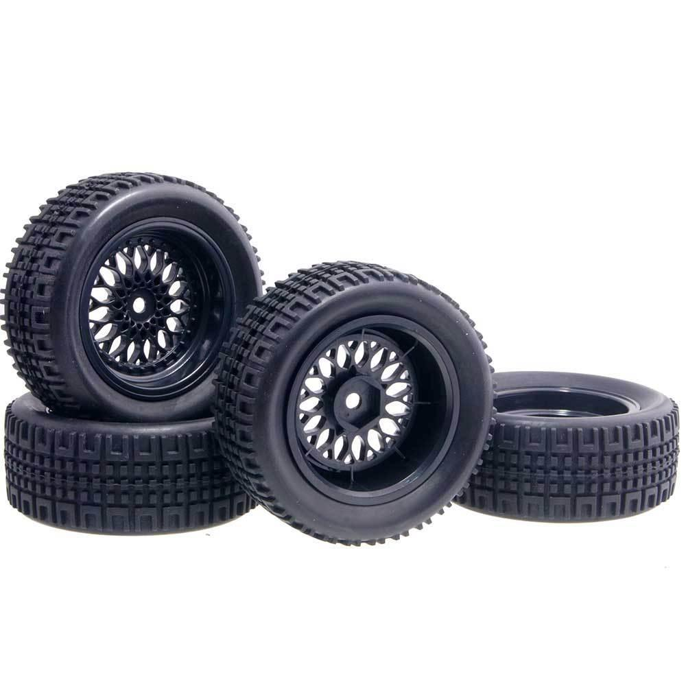 RC HSP 2080-7004A Wheel&Rally Rubber Tires Offset:6mm For 1:10 On-Road Rally Car