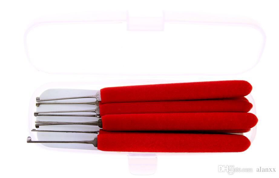 Nouveau modèle HUK Kaba Lock Picks Outils Avec Deux Tension Clés Outils De Serrurier Avec Poignée Rouge