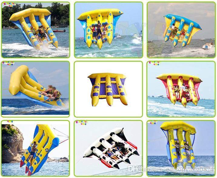 2020 Högkvalitativ uppblåsbara flygande fisk / uppblåsbara vattenspel / uppblåsbara flöjor till salu