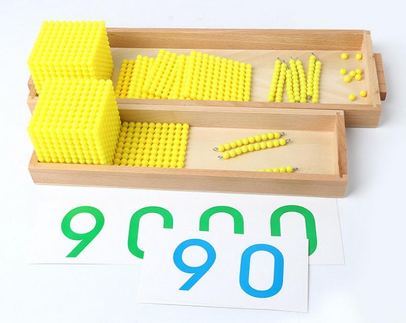 New Montessori Baby Toys Bank Game Set Maths Educational Gifts Early Childhood Education Preschool Training Math Intelligent Kids