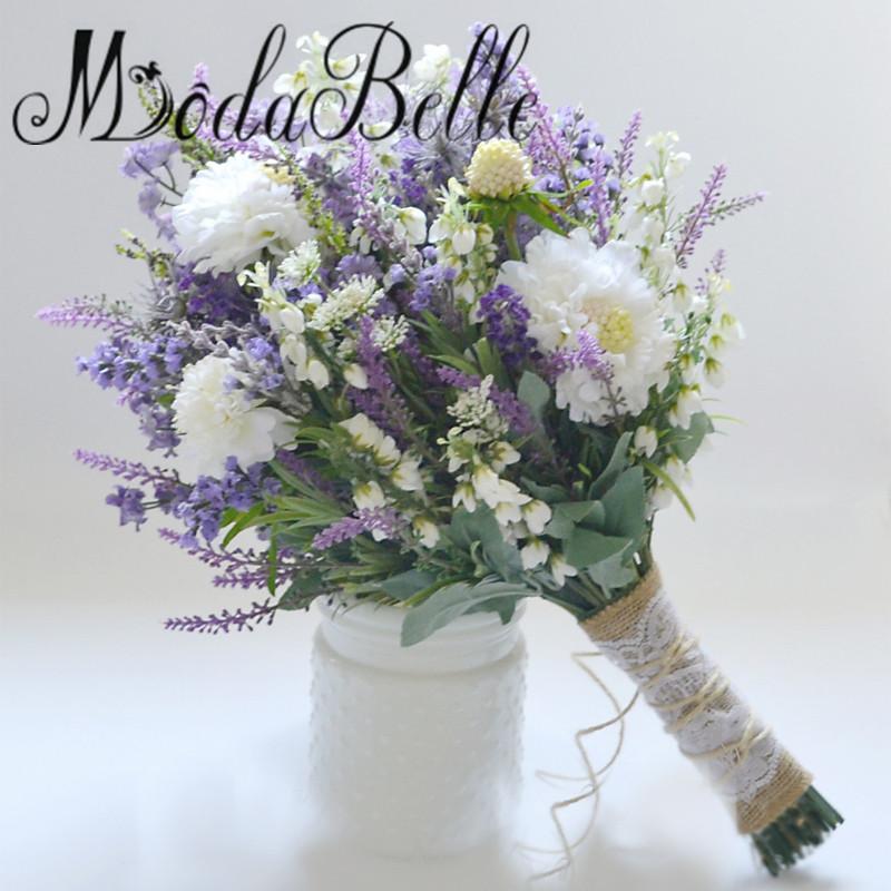 Bouquet Lavanda Sposa.Acquista Lilla Lavanda Viola Bouquet Da Sposa Artificiale Spose