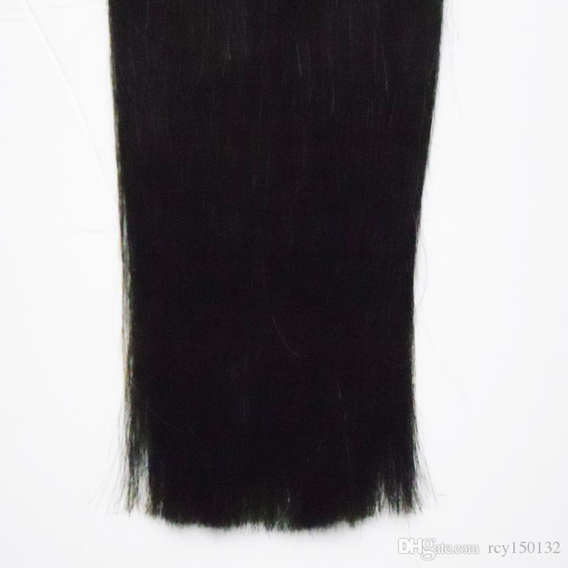 Uso de Cor Natural de cabelo humano Pele Trama Brasileira fita de cabelo Liso em extensões de cabelo humano 100g
