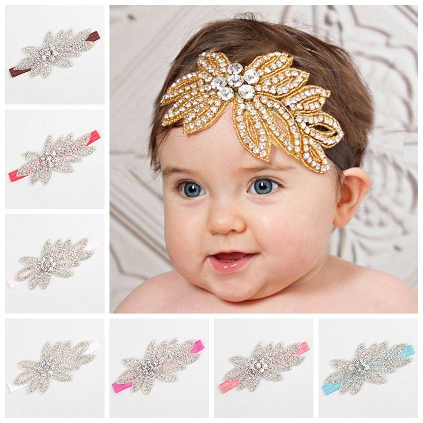 Baby Girl s Headwear Princess Rhinestone Headband Handmade Hair ... 9b2239aefcf5