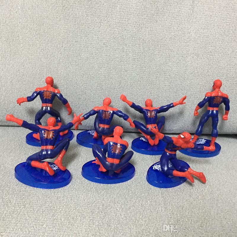 Avengers Örümcek Adam 7 Adet PVC Aksiyon Figürleri Koleksiyon Modeli Comics Kahramanlar Spiderman çocuklar Hediye Oyuncaklar için 7-11 cm