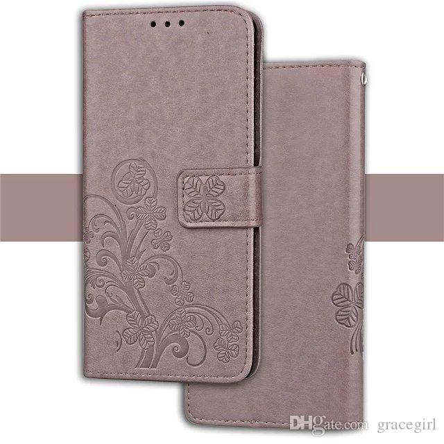 For LG X Style Tribute HD LS676 Stylus 2 LS775 Samsung Galaxy M30S J2 Prime Lucky Clover Flower Wallet Leather Case Phone Stand Cover