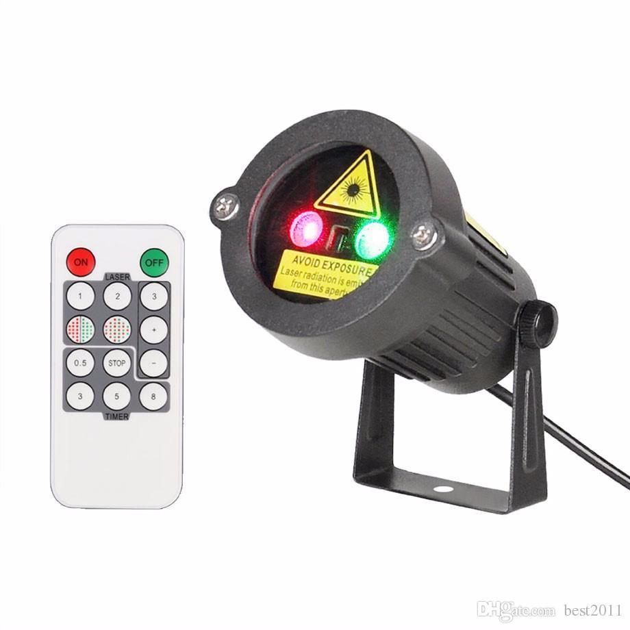 2016 Productos estrella Al aire libre Proyector láser de Navidad Luces Duchas Decoraciones para el hogar Rojo Verde Estático para la decoración