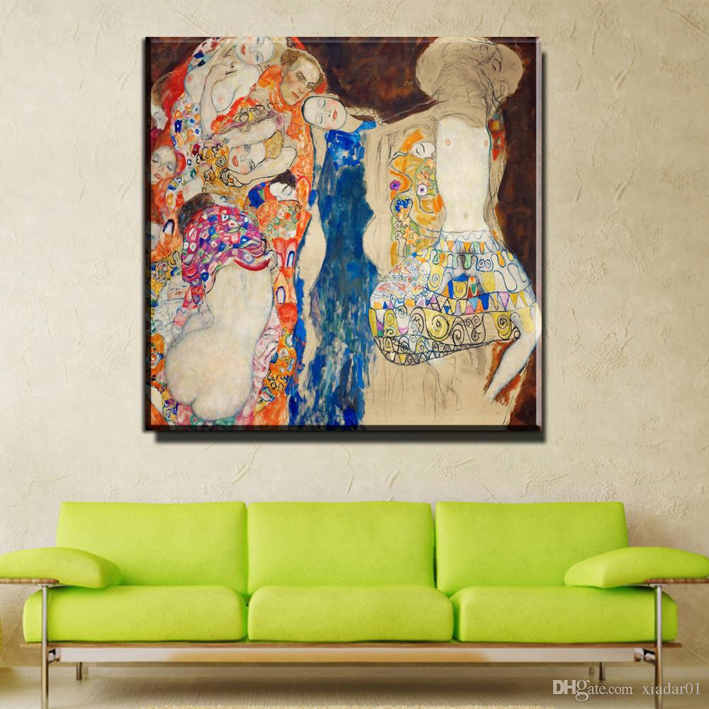 ZZ754 home decorative canvas wall art Huge Gustav Klimt Giclee Print Canvas Wall Art Home Decor Living Room Painting Large Cheap