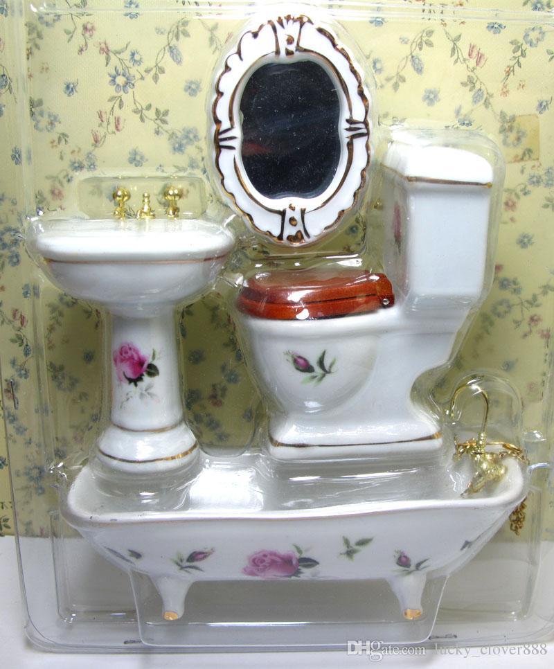 Miniaturen Von Wc Küche Badezimmer