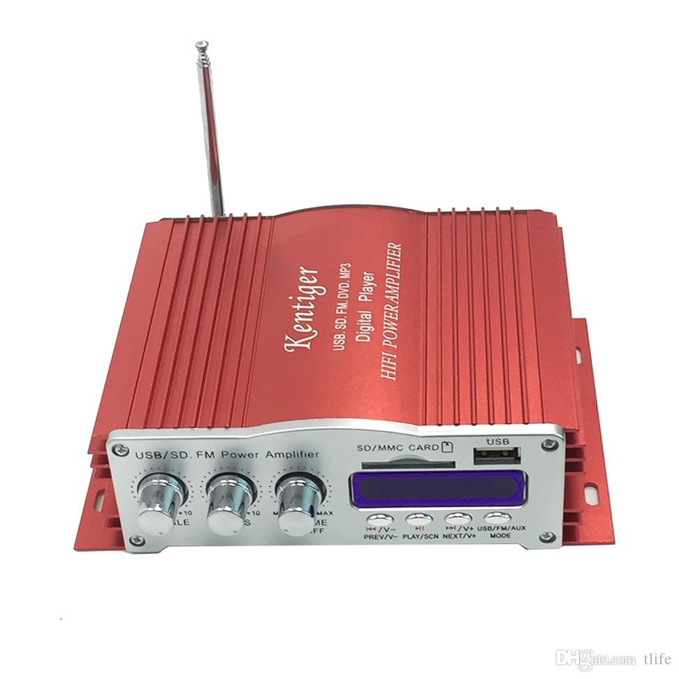Kentiger Power Amplifier 875 108mhz Failure Memory Function 58 W Audio Ir Control Fm Mp3 Usb Support U Disk And Sd Mmc 2008 Amplifiers
