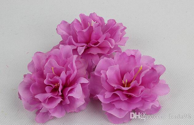 9 cm fiore di seta artificiale peonia rosa teste capelli decorazione della festa nuziale artigianale floreale G626