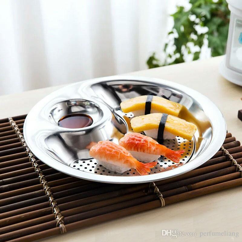Paslanmaz Çelik Köfte Çanak Meyve Kase Gümüş Çift katmanlı Disk Aracı mini Çanak ile Mutfak Aksesuarları ZA3027