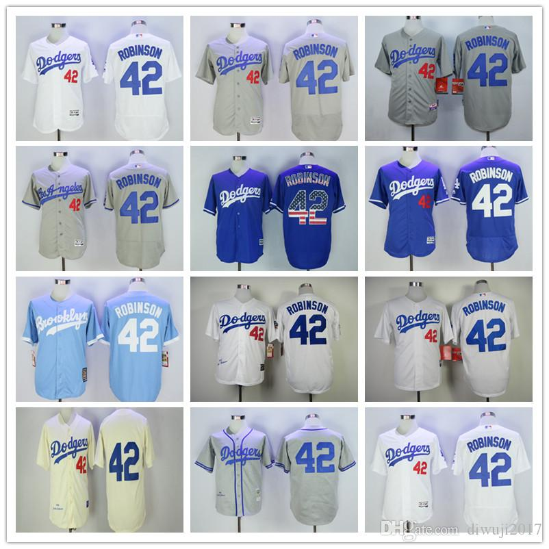 76b82b0f8 ... 2018 hot 42 jackie robinson jersey mlb los angeles dodgers jerseys  white cream with 50th hall