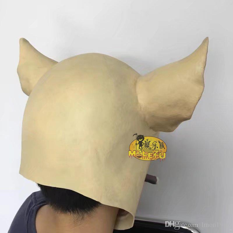 Top Grade Saw Adult Animal Scary Masks Pig Head Masks Halloween Party for Funny Full Head Smoking Pig Mask Cosplay Costume Moive Tools