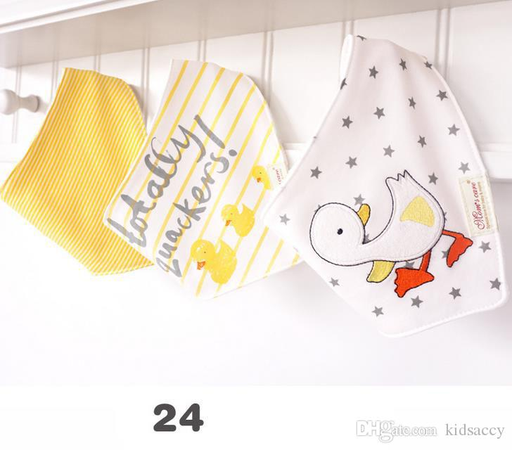3 шт./компл. милый momscare дети младенческой новорожденный ребенок бандана нагрудники полотенце слюна полотенце отрыжка ткани Хлопок мультфильм животных треугольный шарф A119