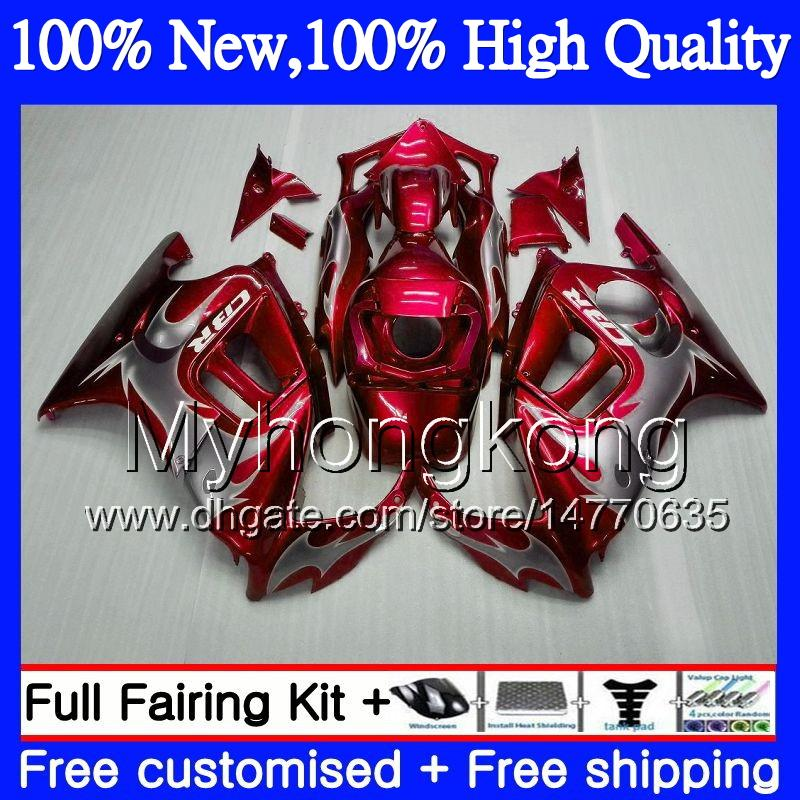 Red silvery Bodys Motorcycle For HONDA CBR600 F3 CBR600RR F3 CBR600FS 95 96 47MY1 CBR 600F3 FS 95 CBR600F3 CBR 600 F3 1995 1996 Fairing kit